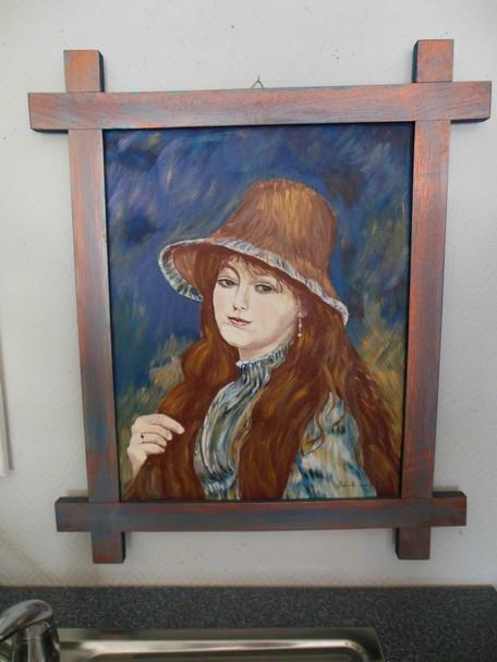 Marie-Louise,Oeuvre d'Auguste RENOIR, réalisé et peint par Andrée LAMBERT dans DERNIERS PORTRAITS dscn0194