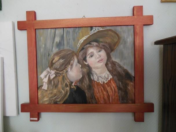 Gabrielle et Jean RENOIR, Oeuvre d'Auguste RENOIR, réalisée et peint par Andrée LAMBERT dans DERNIERS PORTRAITS dscn0199