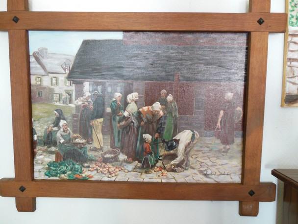 Le Marché peint et réalisé par Andrée LAMBERT dans DERNIERS PORTRAITS dscn0200