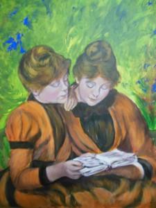 Filles à la lecture